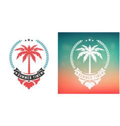 vintage summer time logo layered vector image