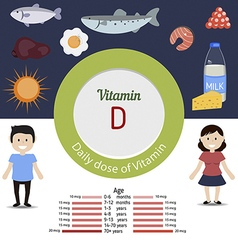 Vitamin D infographic vector