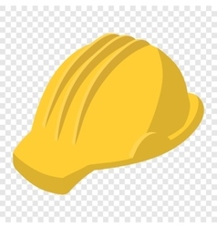 Yellow safety helmet cartoon vector image