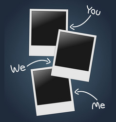 Empty photos template vector image vector image