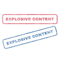 explosive content textile stamps vector image
