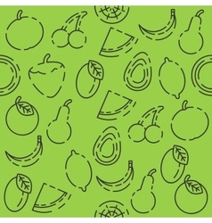 Fruits set pattern vector image