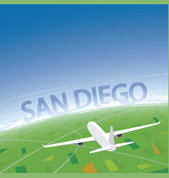 san diego flight destination vector image