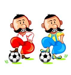 soccer ukrainian player vector image