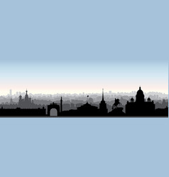 st petersburg city skyline russia tourist vector image vector image