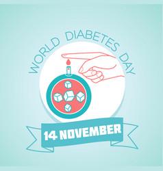 14 november world diabetes day vector image vector image