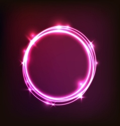 Abstract glowing pink background with circles vector image vector image