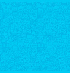 blue contact us seamless pattern vector image