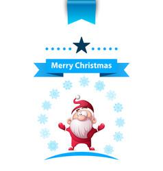 santa claus father winter - merry christmas vector image vector image