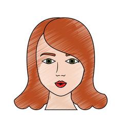 sexy woman face cartoon vector image vector image