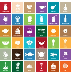 sign food set vector image