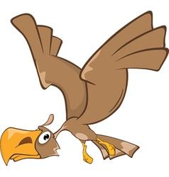 Cute eagle cartoon character vector
