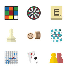 flat icon play set of cube pawn sea fight and vector image vector image