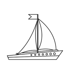 Sailing ship icon outline style vector image vector image