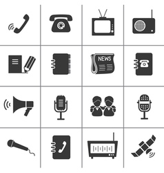 Set of communication icons vector image vector image