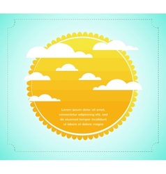 Sun with cloud infograhics vector image
