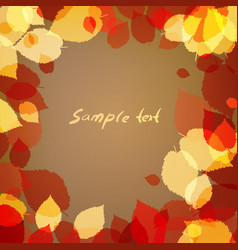 background with brown leaves vector image vector image