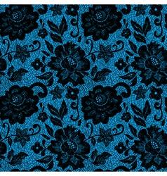 BlackLaceFlowerOnBlue vector image vector image