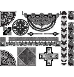 design in celtic style vector image vector image