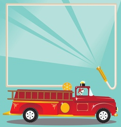 firetruck birthday party vector image vector image