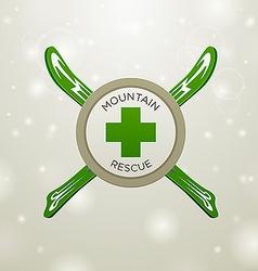 Logotype mountain rescue vector image vector image