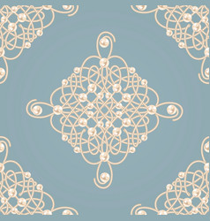 seamless pattern with ellegant golden knot sign vector image vector image