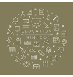 Set of education icons eps10 format vector image vector image