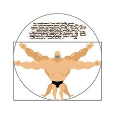 Vitruvian strong man bodybuilder of Leonardo da Vi vector image