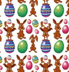 An Easter seamless design vector image