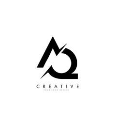 Aq a q letter logo design with a creative cut vector