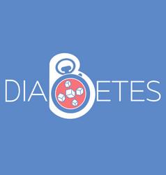 Banner of diabetes mellitus diagnosis vector