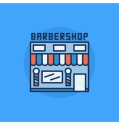 Barbershop building flat icon vector