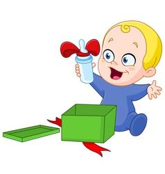bawith christmas gift vector image