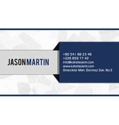 Blue corporate business card vector