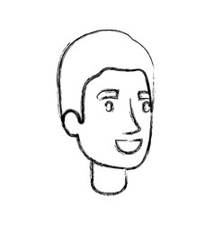 Blurred silhouette of man face with simple haircut vector