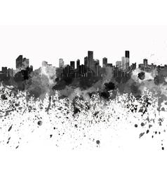 Bogota skyline in black watercolor on white vector image