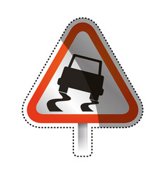 caution sign slippery ground vector image