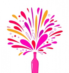 champagne bottle splash vector image