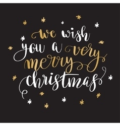 Christmas greeting card with calligraphy vector