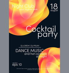 cocktail party poster music poster background vector image
