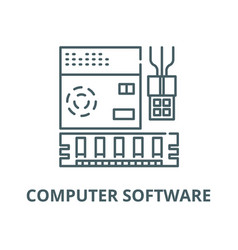computer software line icon linear concept vector image