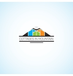 Cottages in mountain vector image