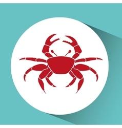 crab icon design vector image