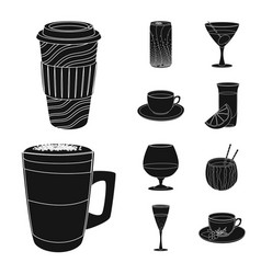 drink and bar logo vector image