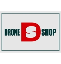 Drone shop text and emblem vector image