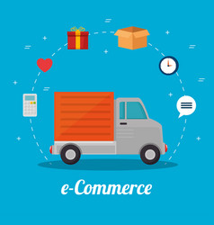 e commerce concept online shopping vector image