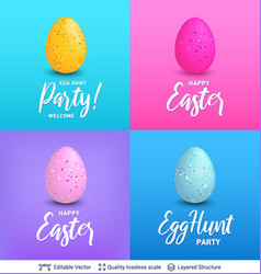 easter backgrounds set bright templates vector image
