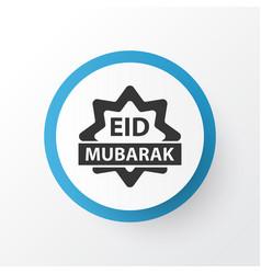 eid mubarak icon symbol premium quality isolated vector image