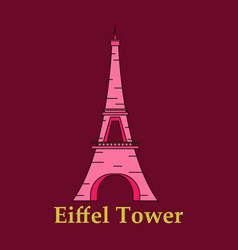 Eiffel tower architecture from paris france vector