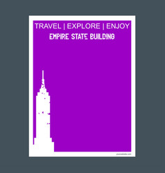 empire state building ny usa monument landmark vector image